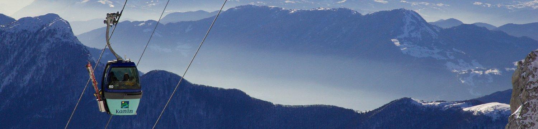 Smučanje na 2.293 m in panorame s pogledi na Alpe in Jadransko<br>morje!